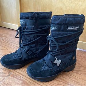 Coach Sela Signature Winter Boots | Size 5.5